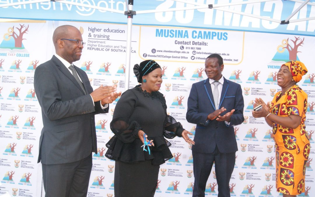 Vhembe TVET College Musina Campus officially launched