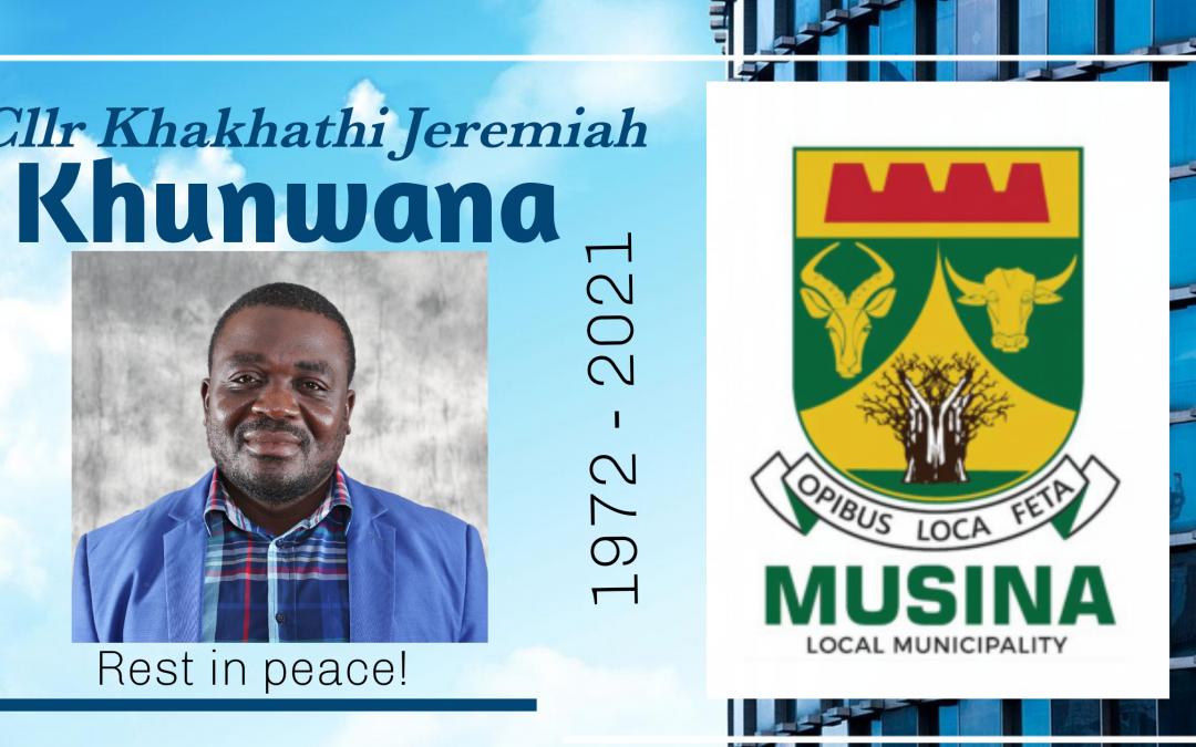 Farewell Cllr Khunwana